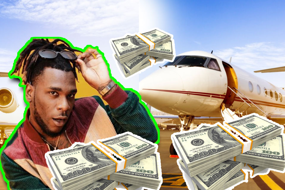 burna boy net worth,private jet,cars,richest muscian in nigeria