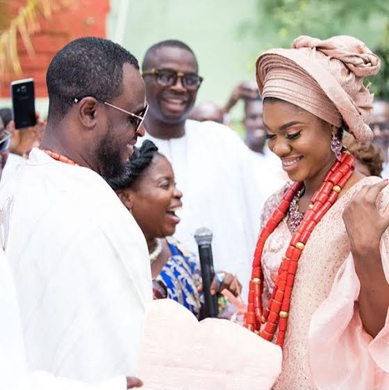 Becca and Husband, Tobi during their Traditional Marriage Ceremony