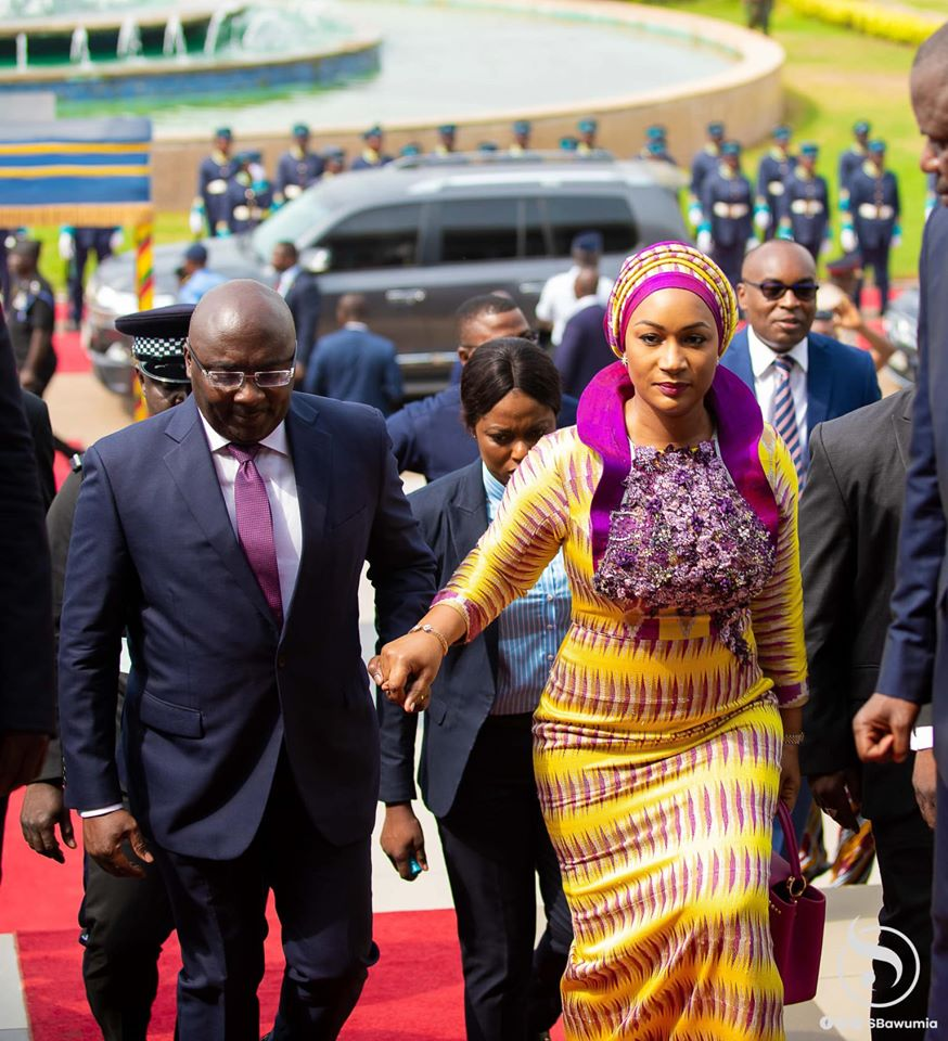 VP Bawumia with his wife, Samira Bawumia at the 2020 State of the Nation Address in Ghana's Parliament on Jan.19.  Photo Credit : Twins Dont Beg