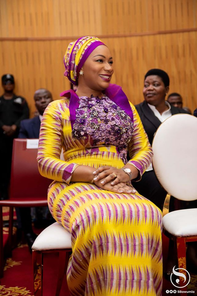 Samira Bawumia at the 2020 State of the Nation Address in Ghana's Parliament on Jan.19.  Photo Credit : Twins Dont Beg